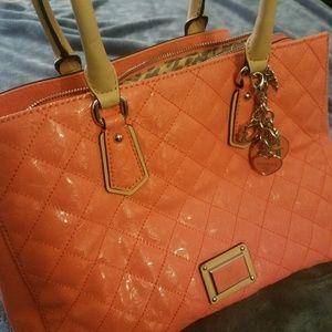 Salmon pink Guess purse
